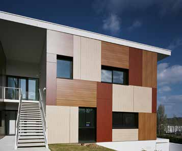 panneau fibre composite xyltech facade bardage bois panneaux composite trespa enduiest with. Black Bedroom Furniture Sets. Home Design Ideas