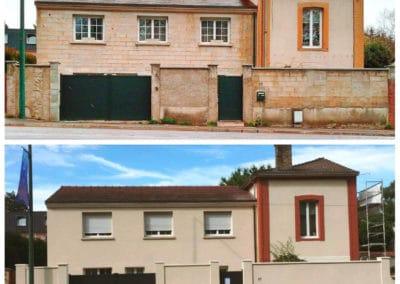 Ravalement de façades avec revêtement RPE