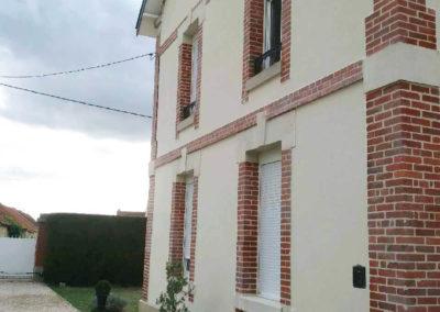 Ravalement complet d'une maison en Picardie